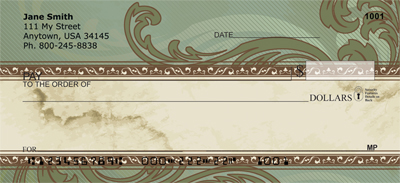 Antique Scrolling Checks - 1