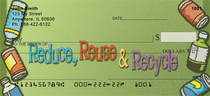 Reduce, Reuse And Recycle Checks