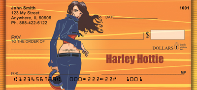 Harley Hottie Personal Checks
