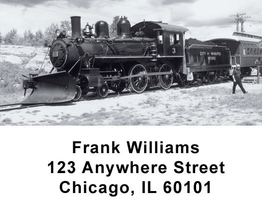 Old Time Trains Address Labels - 4