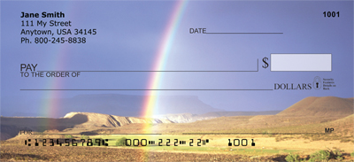 Rainbows On The Plains Personal Checks - 1