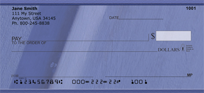 Paint it Blue Personal Checks - 1
