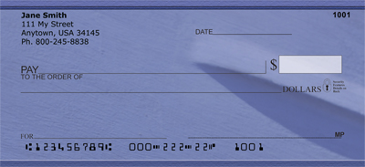 Paint it Blue Personal Checks - 2