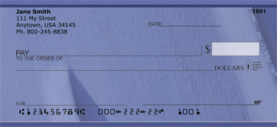 Paint it Blue Personal Checks - 4