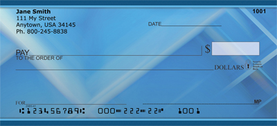 Blue Squared Personal Checks - 1