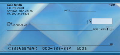 Blue Squared Personal Checks - 2