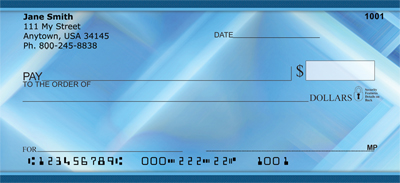 Blue Squared Personal Checks - 3
