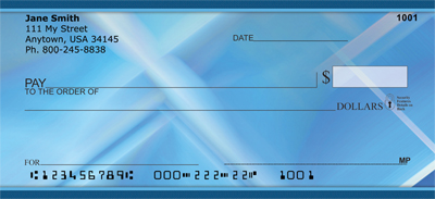 Blue Squared Personal Checks - 4