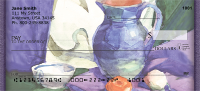Tuscan Inspired Watercolor Personal Checks - 1