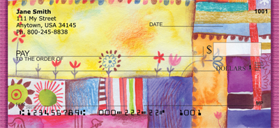 Quilt Inspired Americana Art Personal Checks - 1