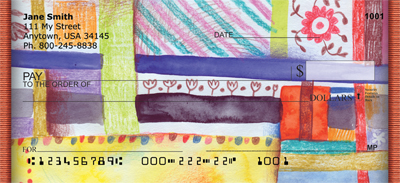 Quilt Inspired Americana Art Personal Checks - 3