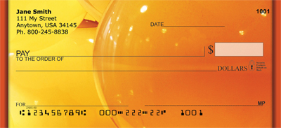 Colorful Gold Lights Personal Checks - 1
