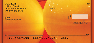 Colorful Gold Lights Personal Checks - 3