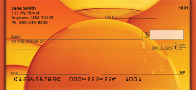 Colorful Gold Lights Personal Checks - 4