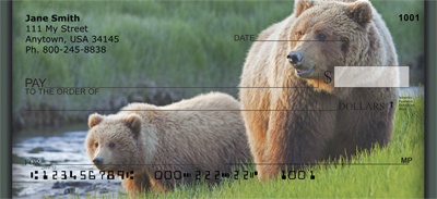 Grizzly Bears Personal Checks - 1