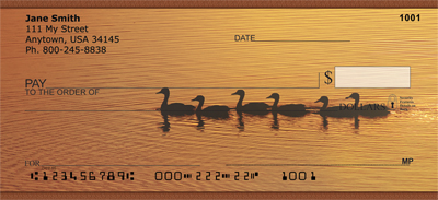 Ducks on a Golden Pond Personal Checks - 1