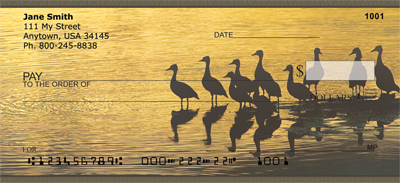 Ducks on a Golden Pond Personal Checks - 3