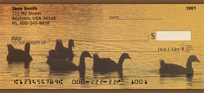 Ducks on a Golden Pond Personal Checks - 4