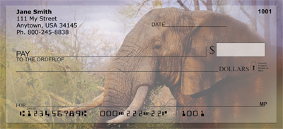 Elephants in the Wild Personal Checks - 1