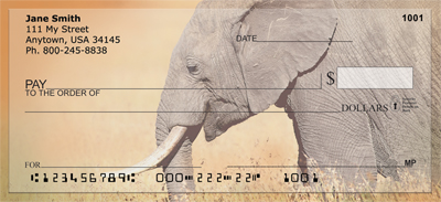 Elephants in the Wild Personal Checks - 2