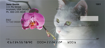 Flowers & Felines Personal Checks