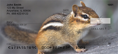 Chipmunk Portraits Personal Checks - 1