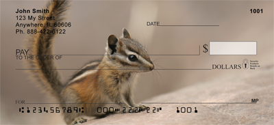 Chipmunk Portraits Personal Checks - 2