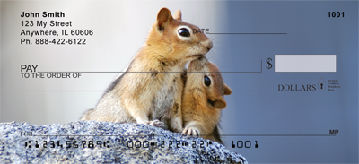 Chipmunk Portraits Personal Checks - 4