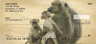Monkey Days Personal Checks - 1