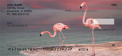 Pink Flamingo Personal Checks - 1