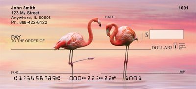 Pink Flamingo Personal Checks - 2