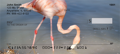 Pink Flamingo Personal Checks - 3