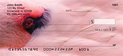 Pink Flamingo Personal Checks - 4