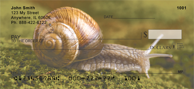 Snails On Parade Personal Checks - 2