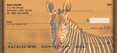 Zebras At Sunset Personal Checks - 2