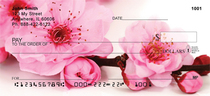 Blossoms In Pink and Blue Personal Checks