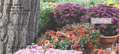Colorful Fall Mums Personal Checks - 3