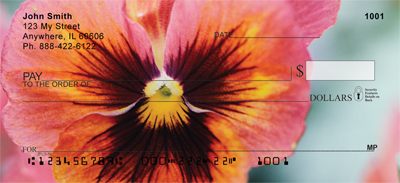 Pansy Parade Personal Checks