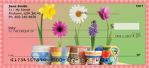 Spring Pots & Flowers Personal Checks