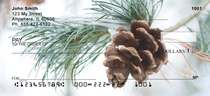 Pinecones In Snow Personal Checks