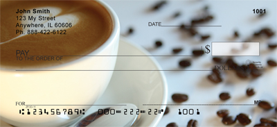 Coffee Lovers Personal Checks - 1