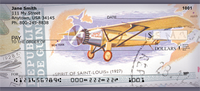 Vintage Airplane Stamps Personal Checks - 1