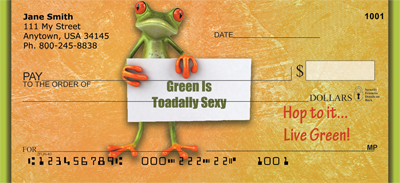 Hop To It... Live Green Personal Checks - 1