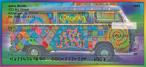 Groovy Hippie Bus Personal Checks