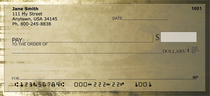 Coffee Grunge Personal Checks
