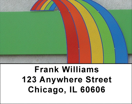 Rainbow Road Address Labels