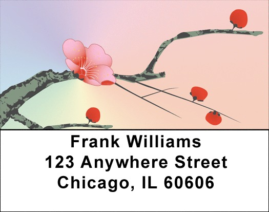 Japanese Cherry Tree Address Labels