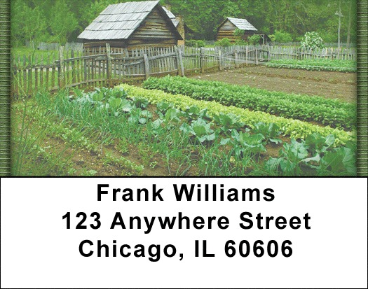 Veggie Garden Address Labels