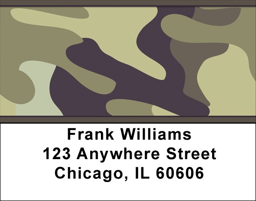 Camouflage Browns and Golds Address Labels
