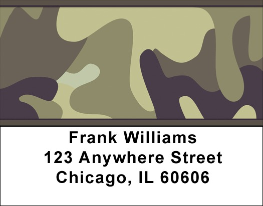 Camouflage Browns and Golds Address Labels - 2